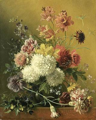 Painting - Still Life With Flowers by Georgius van Os