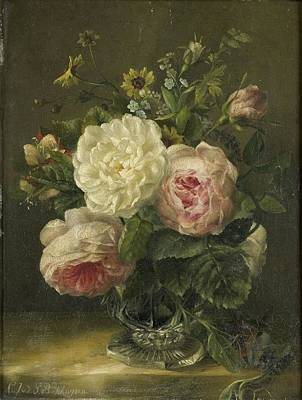 Painting - Still Life With Flowers by Jacoba van de Sande Bakhuyzen
