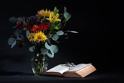 Photograph - Still Life With Flowers by Joe Kozlowski