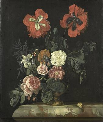 Painting - Still Life With Flowers by Nicolaes Lachtropius