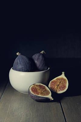 Still Life With Fresh Figs Art Print by Jaroslaw Blaminsky