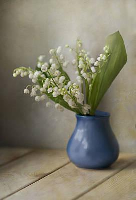 Still Life With Fresh Flowers Art Print