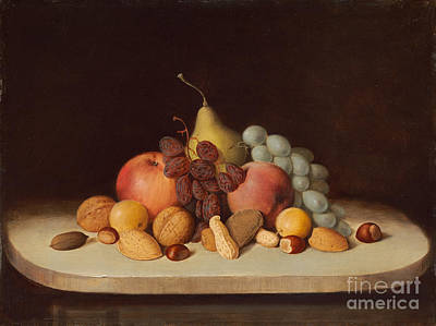Painting - Still Life With Fruit And Nuts by Celestial Images