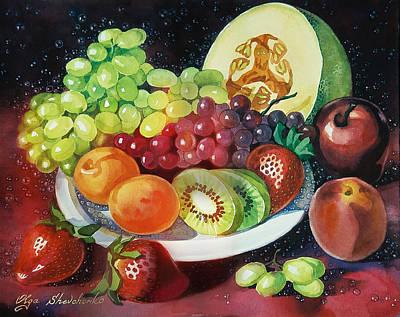Still Life With Fruits Art Print