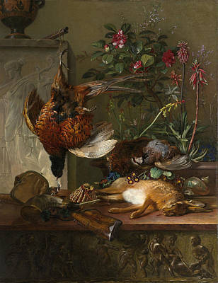 Autumn Art Drawing - Still Life With Game And A Greek Stele Allegory Of Autumn by Litz Collection