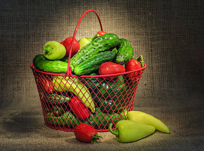 Photograph - Still Life With Garden Vegetables by Alexey Stiop