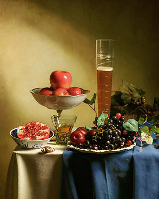 Still Life With Grapes  Art Print by Levin Rodriguez