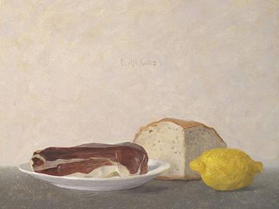 Painting - Still Life With Italian Ham by Ben Rikken