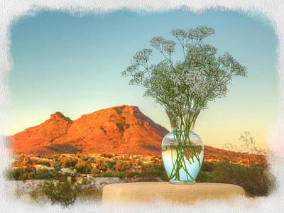 Still Life With Landscape Art Print by Rick Lloyd