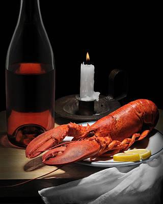 Still Life With Lobster Art Print by Krasimir Tolev