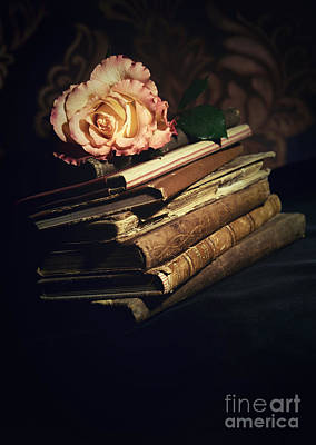 Still Live Photograph - Still Life With Old Books by Jaroslaw Blaminsky