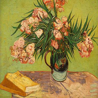 Painting - Still Life With Oleanders by Florene Welebny