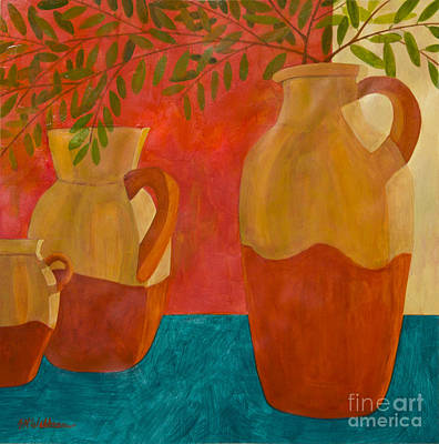 Still Life With Olive Branches II Art Print
