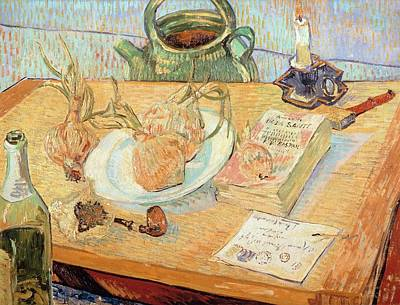 Literature Painting - Still Life With Onions by Vincent van Gogh