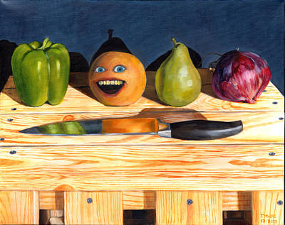 Painting - Still Life With Orange No. 1 by Thomas Weeks