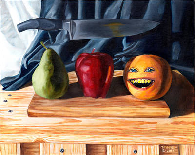 Pop Surrealism Painting - Still Life With Orange No. 3 by Thomas Weeks