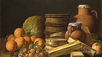 Still-life With Oranges And Walnuts Art Print