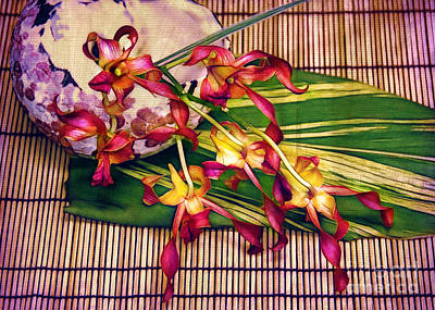Photograph - Still Life With Orchids by Judi Bagwell