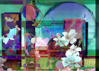 Digital Art - Still Life With Orchids by Ursula Freer