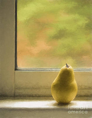 Kitchen Window Photograph - Still Life With Pear by Diane Diederich
