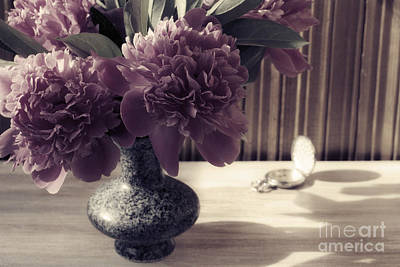 Travel Rights Managed Images - Still Life with Peonies and hours Royalty-Free Image by Sviatlana Kandybovich
