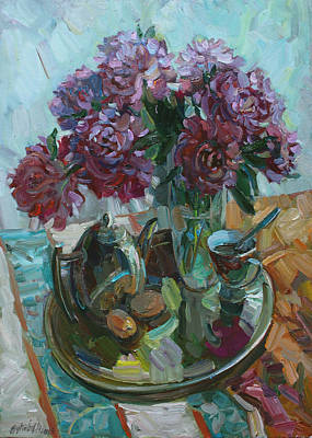 Painting - Still Life With Peonies by Juliya Zhukova