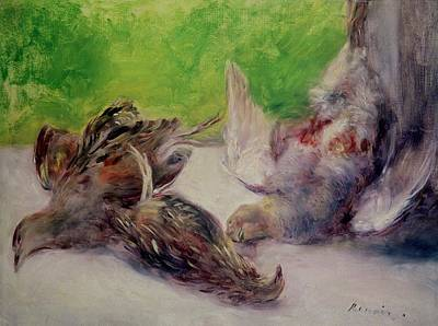 Dgt Painting - Still Life With Pheasants  by Pierre Auguste Renoir