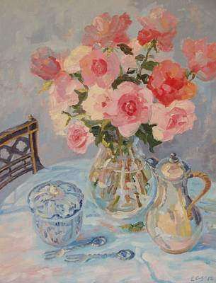 Still Life With Pink Roses 2012 Original