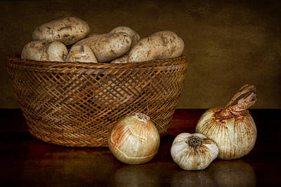 Photograph - Still Life With Potatoes And Aromatics #1 by Nikolyn McDonald