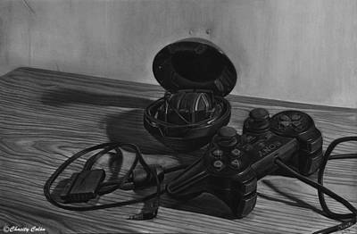 Electronics Drawing - Still Life With Ps2 Controller by Chasity Colon