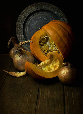 Lead The Life Photograph - Still Life With Pumpkin by Jaroslaw Blaminsky