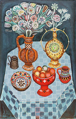 Still Life With Red Apples, 1967 Oil On Canvas Art Print