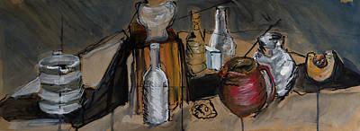 Still Life With Reg Jug Art Print by Tina Pitsiavas
