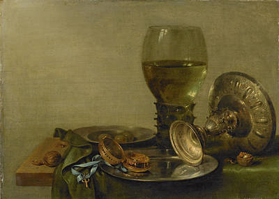 Still Life With Roemer And Silver Tazza Art Print by Litz Collection