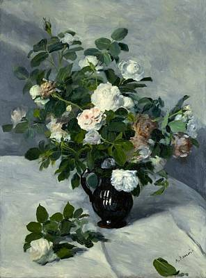 Cambridge Painting - Still Life With Roses by Pierre-Auguste Renoir