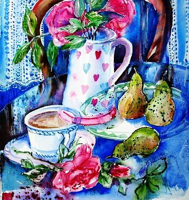 Popstar And Musician Paintings Royalty Free Images - Still Life with Roses  Royalty-Free Image by Trudi Doyle
