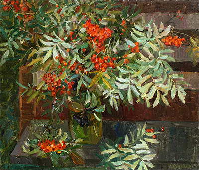 Painting - Still Life With Rowan by Juliya Zhukova