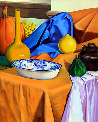 Painting - Still Life With Satin by Martin Sullivan