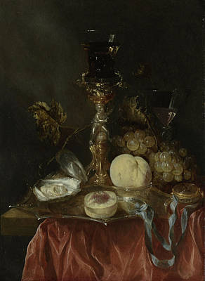 Still Life With Silver-gilt Bekerschroef With Roemer Art Print by Litz Collection