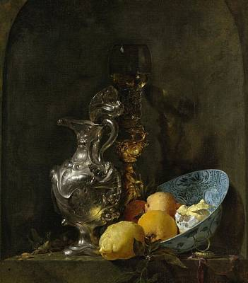 Old Pitcher Painting - Still Life With Silver Pitcher by Willem Kalf