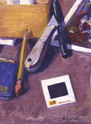 35mm Painting - Still Life With Slide by Mark Lunde