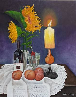 Still Life With Sunflowers Art Print