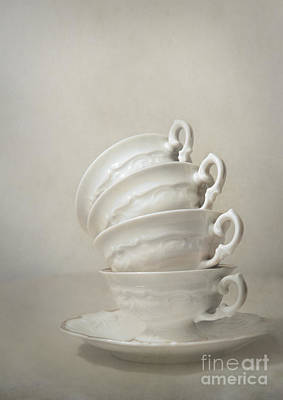 Mess Photograph - Still Life With Teacups by Jaroslaw Blaminsky