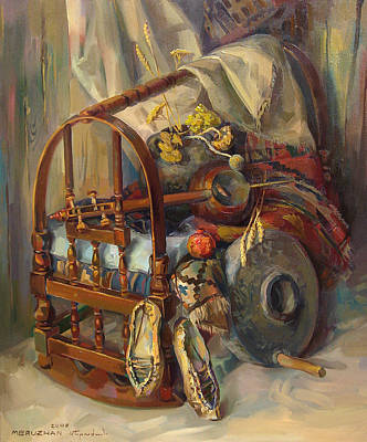 Cradles Painting - Still-life With The Armenian Crable by Meruzhan Khachatryan