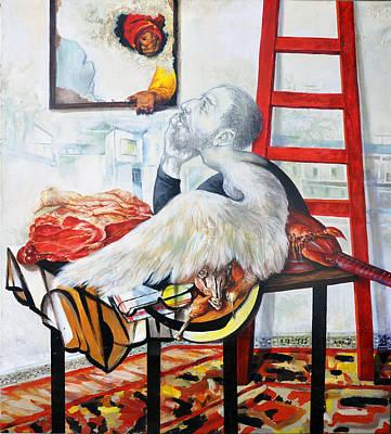 Still Life With The Artist Original by Nekoda  Singer