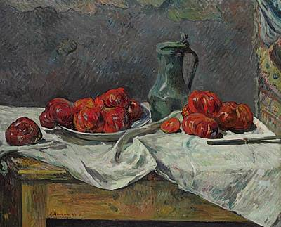 Still Life With Tomatoes Art Print by Paul Gauguin
