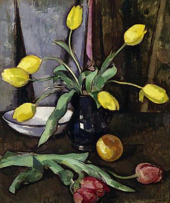 Still-life With Tulips Art Print
