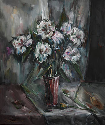 Still-life With White Flowers Original