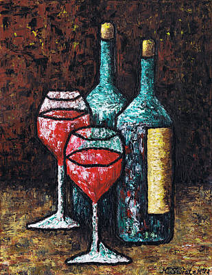 Red Wine Painting - Still Life With Wine by Kamil Swiatek