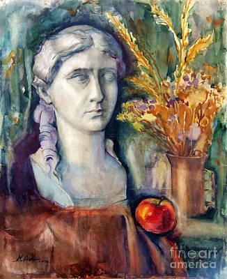 Naturmort Painting - Still Life With Woman's Bust by Marina Kolchagova